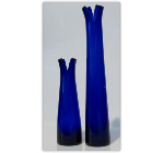 Cobalt Short and Tall Vases